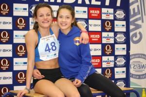 Kristiane og Jennifer tok til saman 5 gull og 3 sølvmedaljar i Vestlandets største innandørsstemne Pinvinlekene 2014