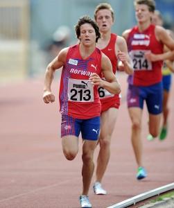 Sander vinn Nordisk meisterskap på 3000 m hinder i Sverige i 2012